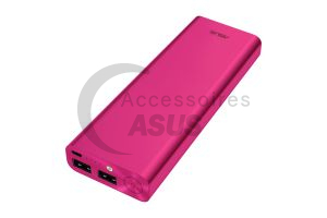 Zenpower ULTRA rosado 20100 mAh doble puerto USB