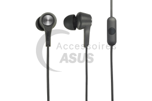 Auriculares in-ear negros de audio para ZenFone